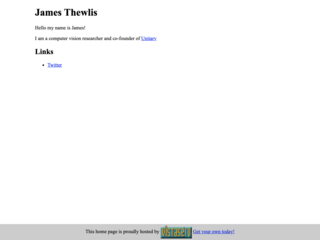 james's homepage
